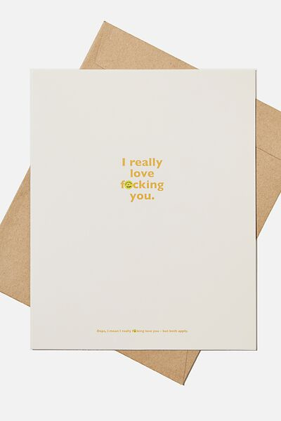 Love Card, REALLY LOVE F*CKING YOU!!