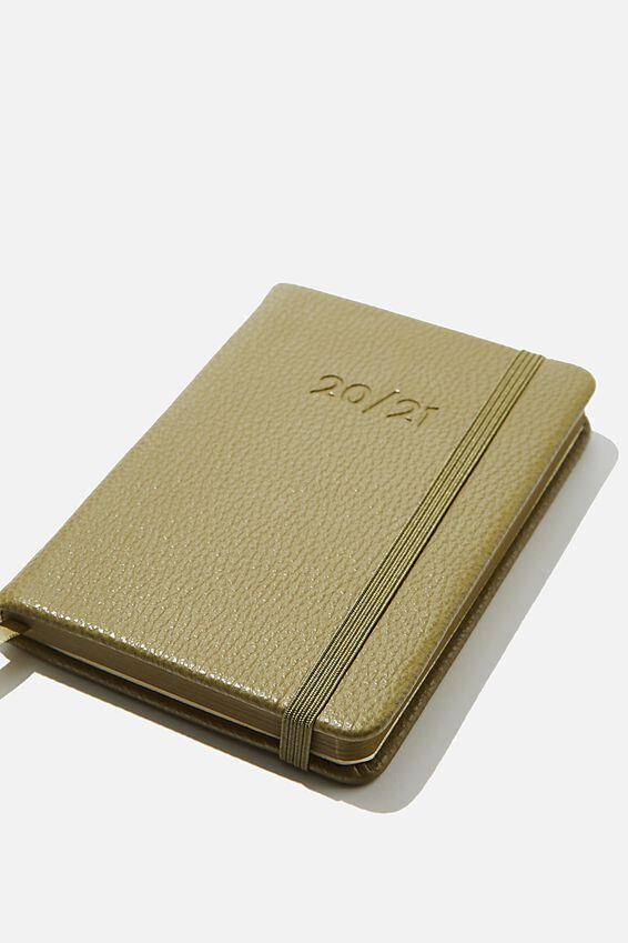 2020 21 A6 Weekly Buffalo Diary, KHAKI