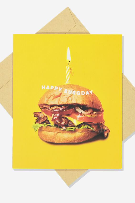 Premium Funny Birthday Card, SCENT BURGDAY