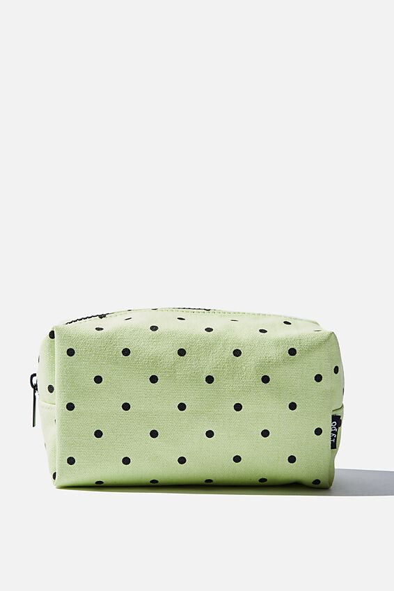 Brooklyn Pencil Case, MENTHE POLKA CANVAS