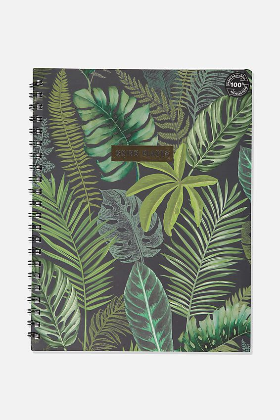 A4 Campus Notebook Recycled, FERN FOLIAGE