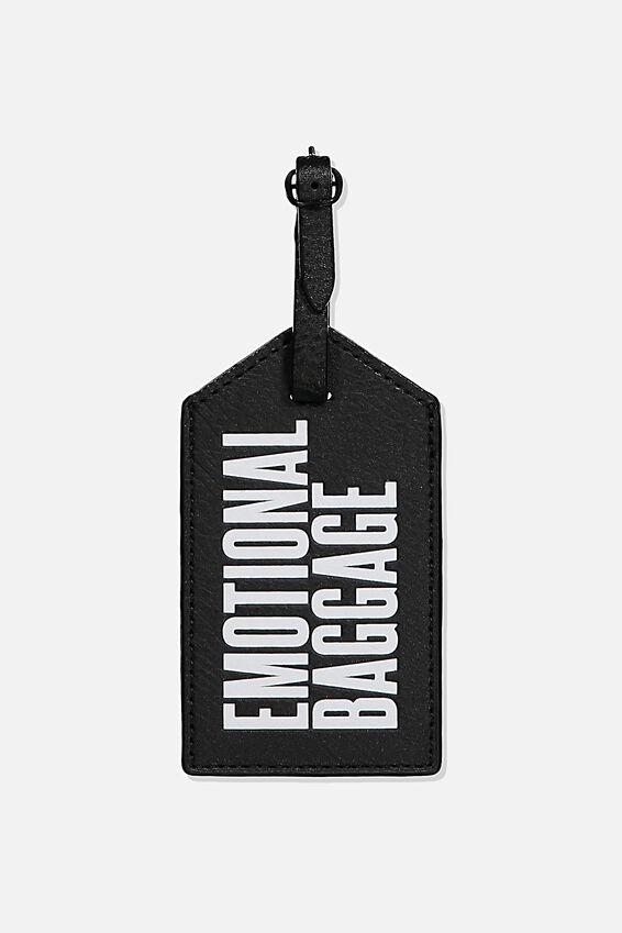 Luggage Tag, EMOTIONAL BAGGAGE BLACK
