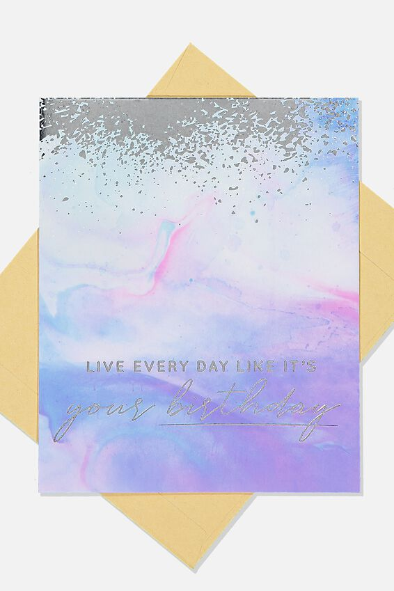 Nice Birthday Card, PARADISE WATERCOLOUR SILVER