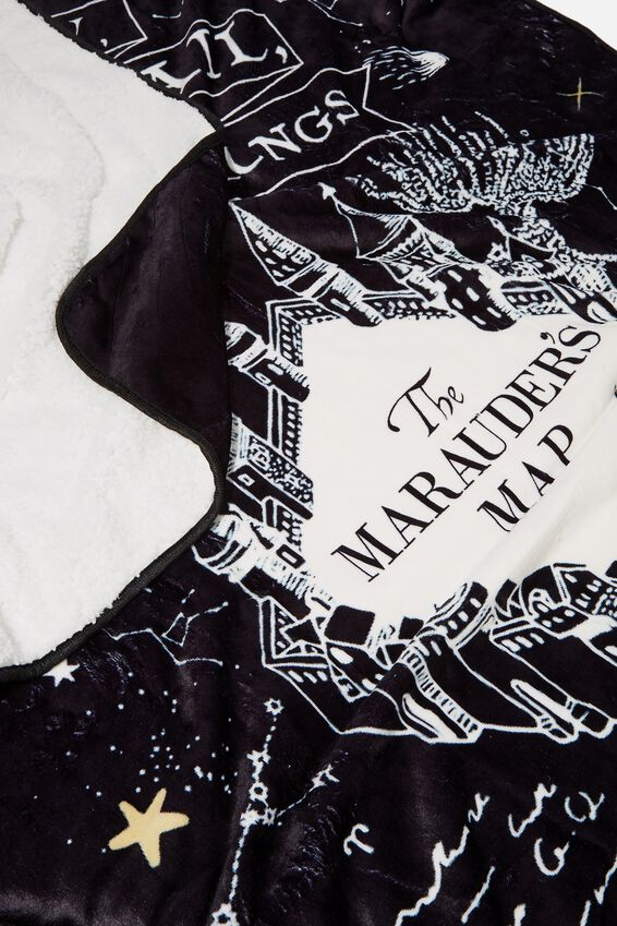 Harry Potter Printed Throw, LCN WB HP MARAUDERS MAP