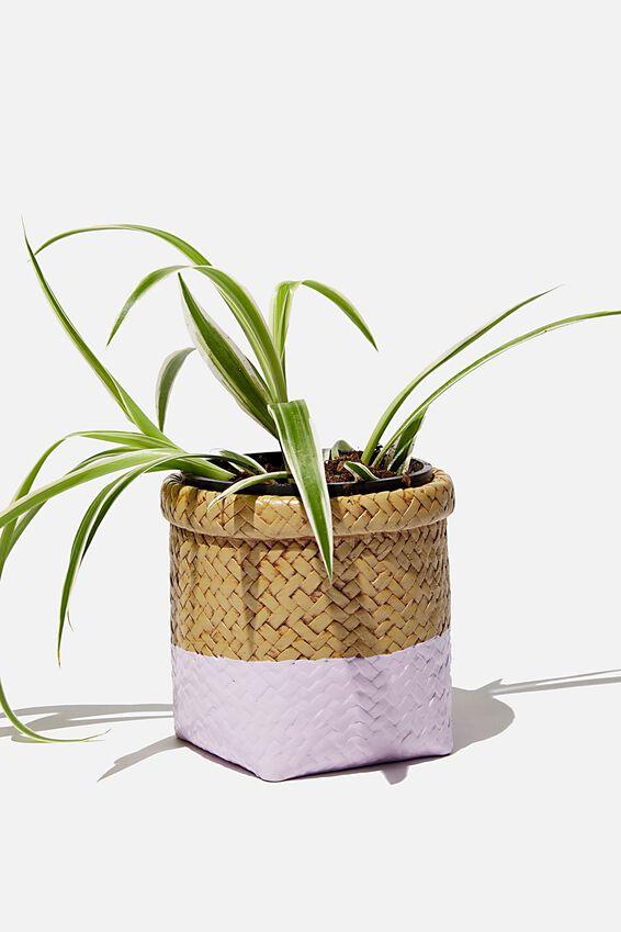 Small Shaped Planter, RATTAN BASKET