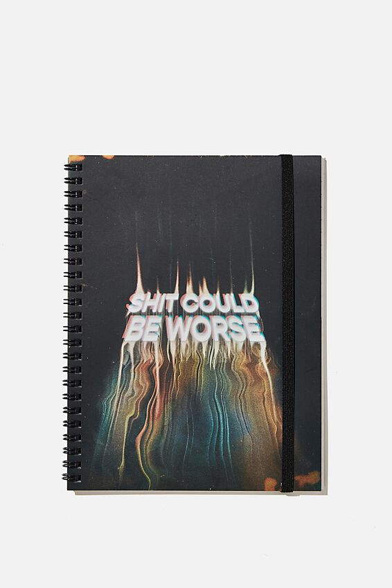 A5 Spinout Notebook Recycled, SHIT COULD BE WORSE!