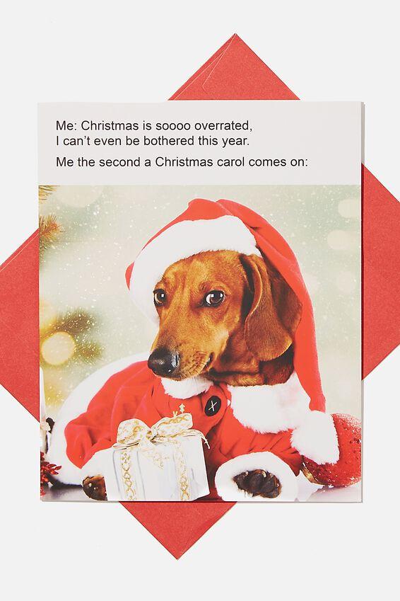 Christmas Card 2020, DOG MEME CHRISTMAS IS OVERATED!