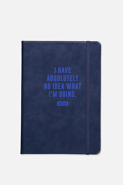 2020 A5 Weekly Buffalo Diary, NAVY NO IDEA