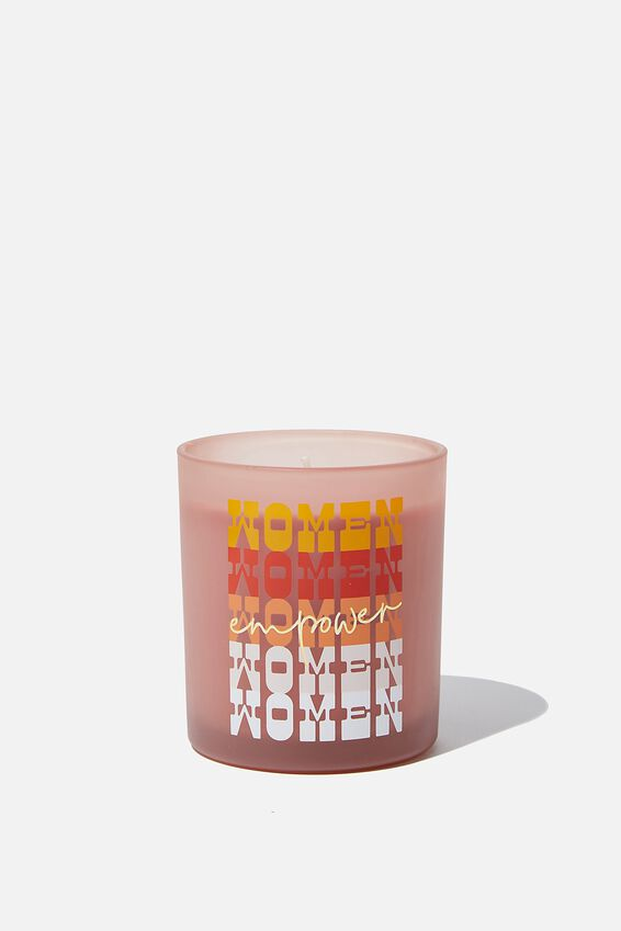Solid Quote Candle, WOMEN WOMEN WOMEN