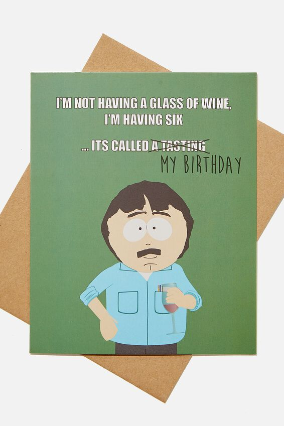 South Park Funny Birthday Card, LCN SOU SOUTH PARK RANDY MY BIRTHDAY!