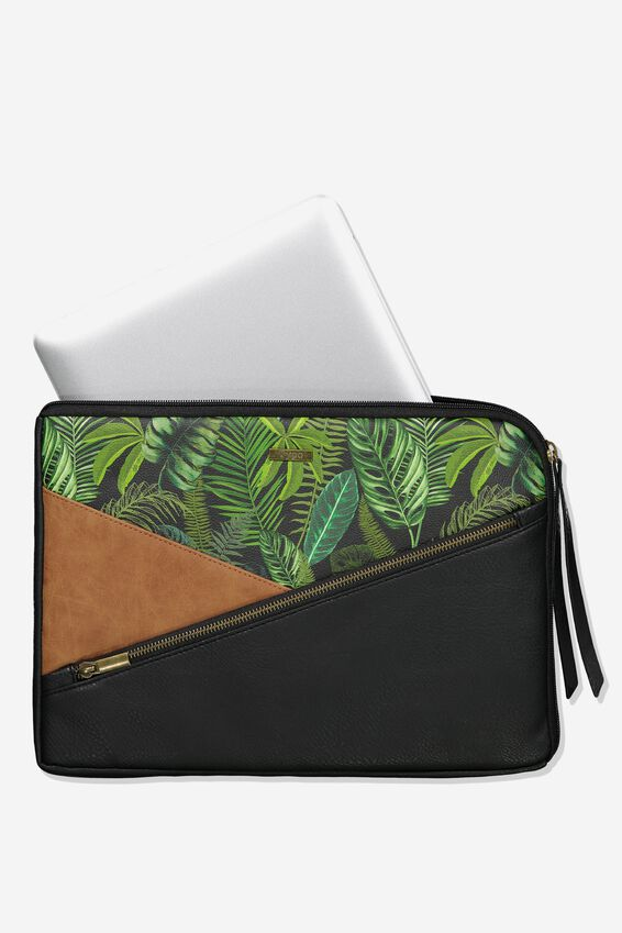 Premium Laptop Case 13 inch, FERN FOLIAGE