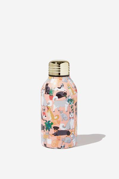 Mini Metal Drink Bottle, ANIMAL LOVER