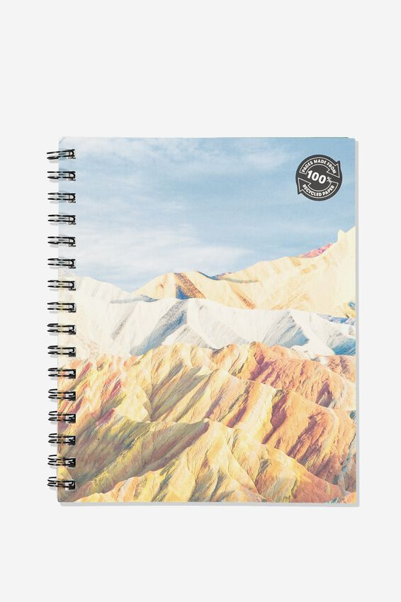 A5 Campus Notebook Grid Internal Recycled, MOUNTAIN HIGH