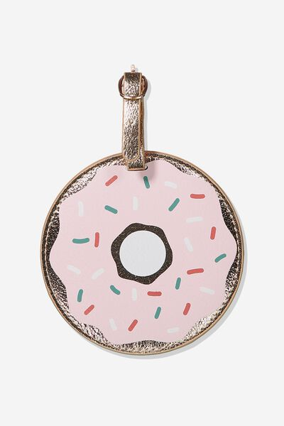 Shape Shifter Luggage Tag, PASTEL DONUT