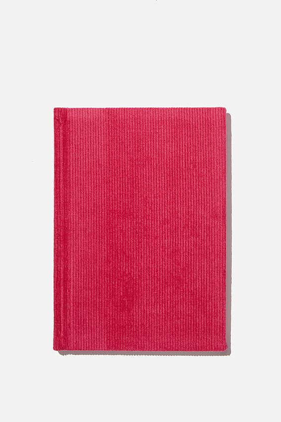 A5 Oxford Notebook, SHOCKING PINK CORD