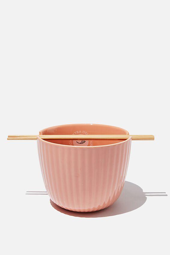 Novelty Noodle Bowl, TEXTURED STRIPE