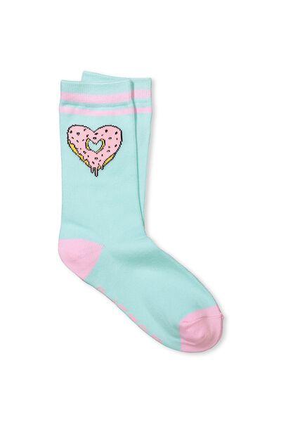 Womens Novelty Socks, DONUT PLEASE