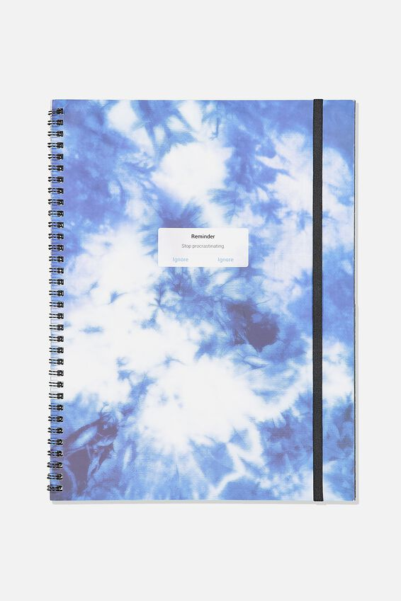 A4 Spinout Notebook Recycled, TIE DYE