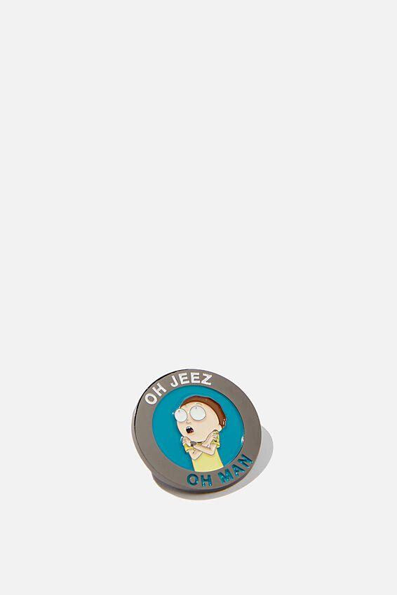 Rick & Morty Enamel Badge, LCN CNW RM MORTY