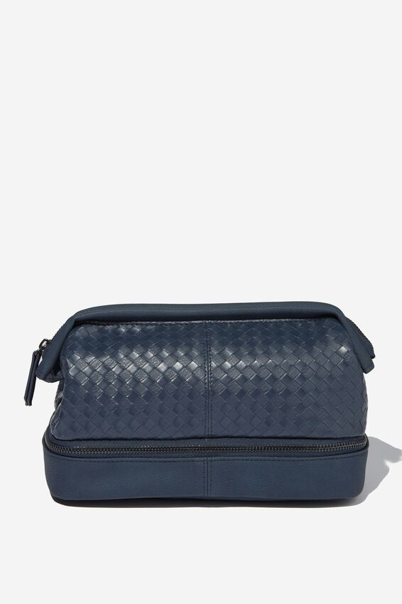 Debonair Wash Bag, NAVY WEAVE
