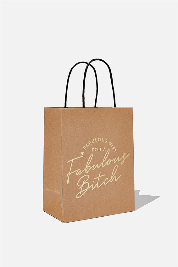 Get Stuffed Gift Bag - Small, HB FABULOUS BITCH