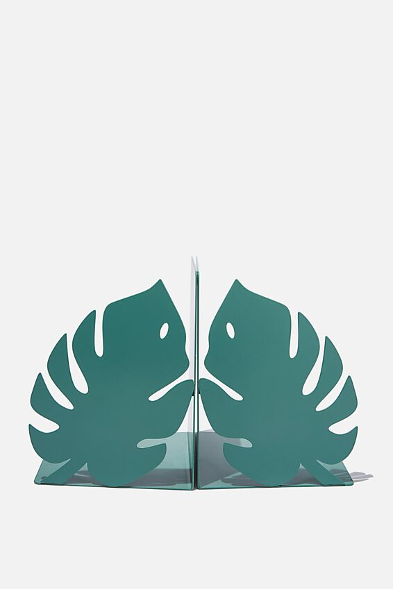 Metal Bookends, MONSTERA LEAF