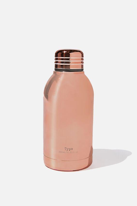 Mini Metal Drink Bottle, ROSE GOLD