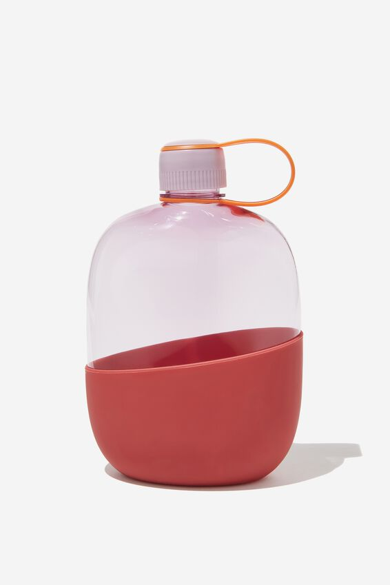 Happy Camper Drink Bottle, LILAC & RED