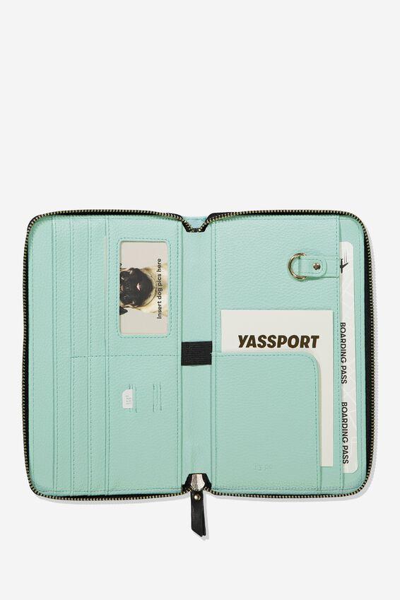 Rfid Odyssey Travel Compendium Wallet, PARADISE WATERCOLOUR