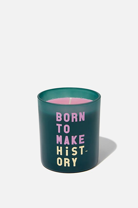 Solid Quote Candle, MAKE HISTORY