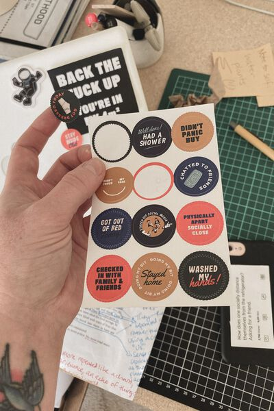 Flat Sticker Pack, STAY INSIDE CLUB