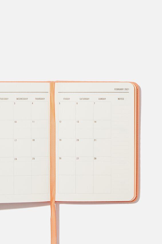 2020 21 A6 Weekly Buffalo Diary, PEACH