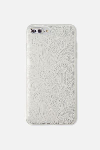 Transparent Phone Cover 6/7/8 Plus, WHITE LACE