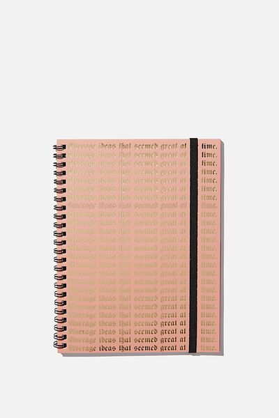 A5 Spinout Notebook Recycled, GREAT AT THE TIME
