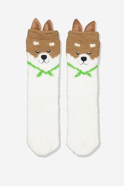 Long Slipper Socks, SHIBA INU