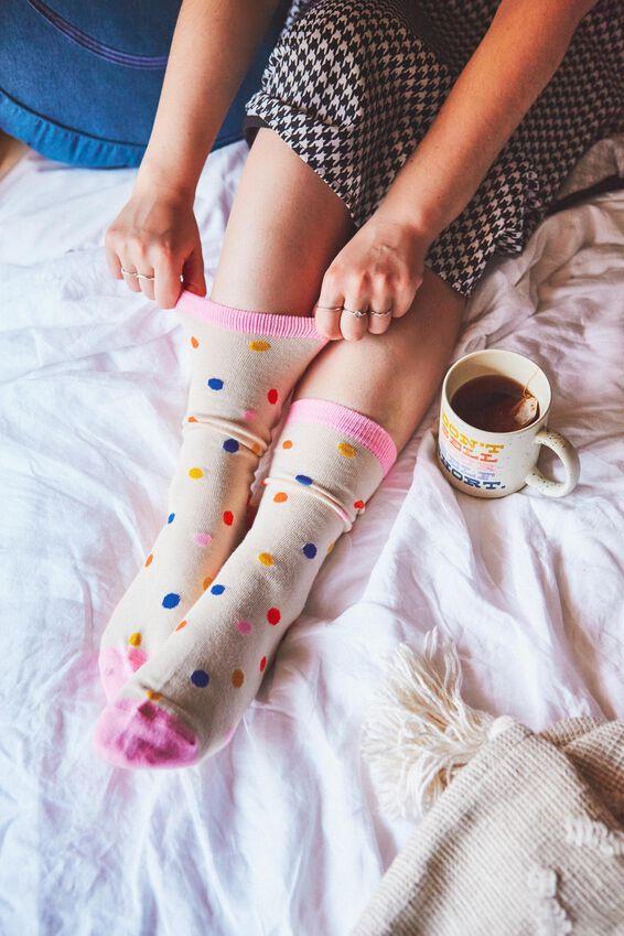 Socks, BRIGHT POLKA