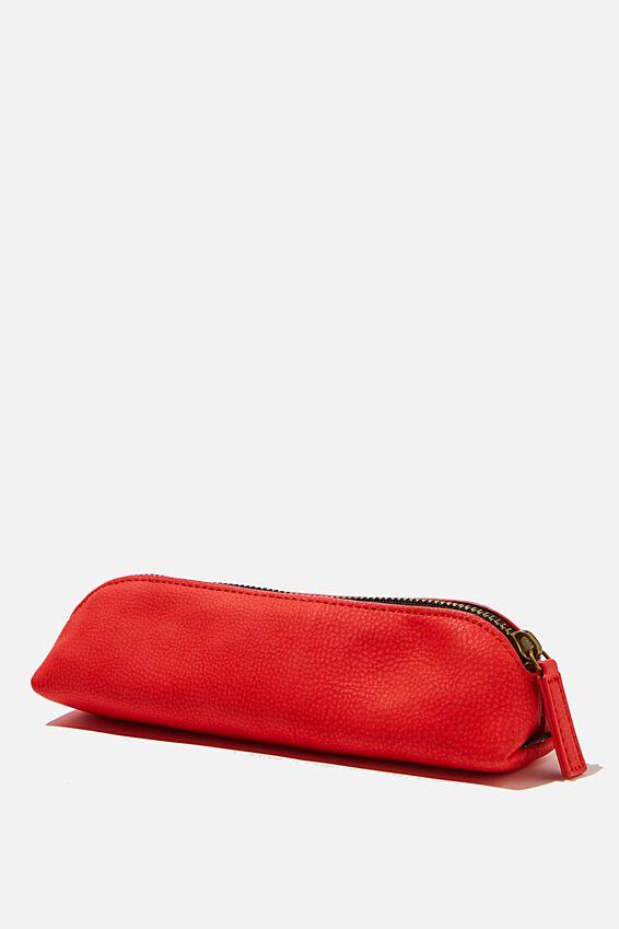 Buffalo Barrel Pencil Case, TRUE RED