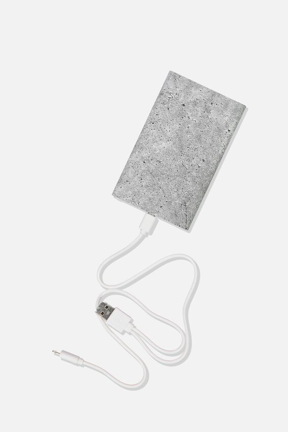 Printed Charge It Charger, CONCRETE