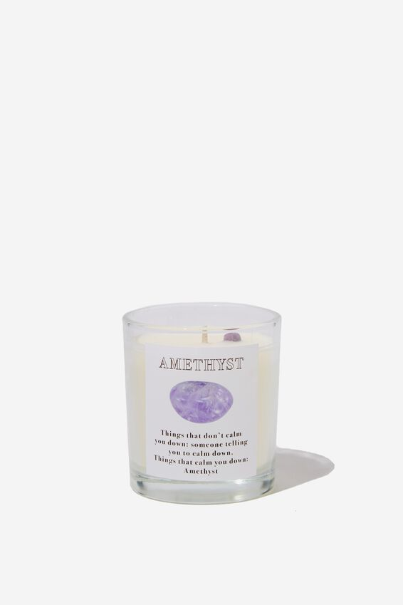 Purple Musk Reveal Candle, AMETHYST CRYSTAL