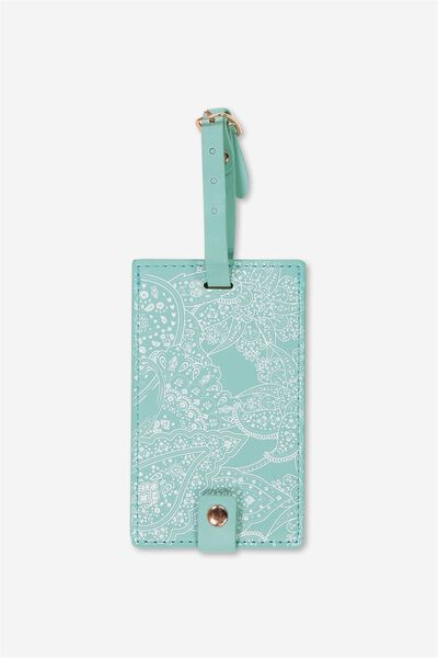 Core Luggage Tag, WHITE LACE PRINT