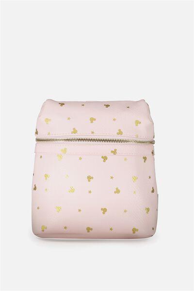 Micro Backpack, LCN BLUSH MICKEY DITSY PRINT