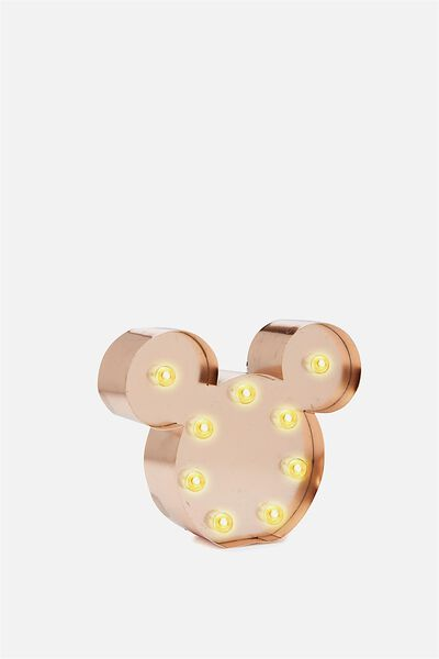 Shaped Mini Marquee Light, LCN ROSE GOLD MICKEY MOUSE