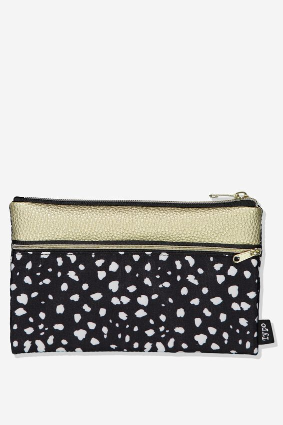 Archer Pencil Case, SPOT METALLIC COMBO