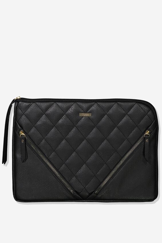 Premium Laptop Case 13 inch, QUILTED DIAMONDS