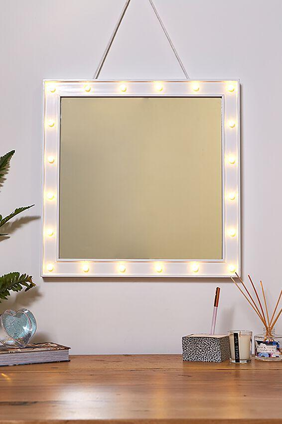 50 x 50 Marquee Mirror Light, WHITE