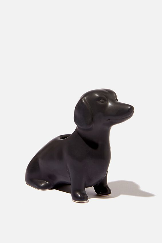 Pen Holder, BLACK DACSHUND