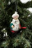 Glass Christmas Ornament, GLASS CHEF SANTA