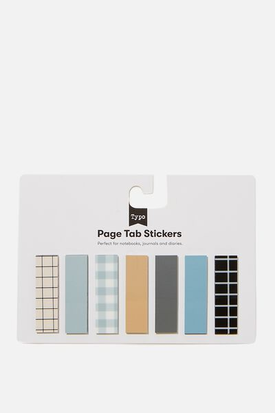 Page Tab Stickers, DENIM BLUE & DRIFTWOOD