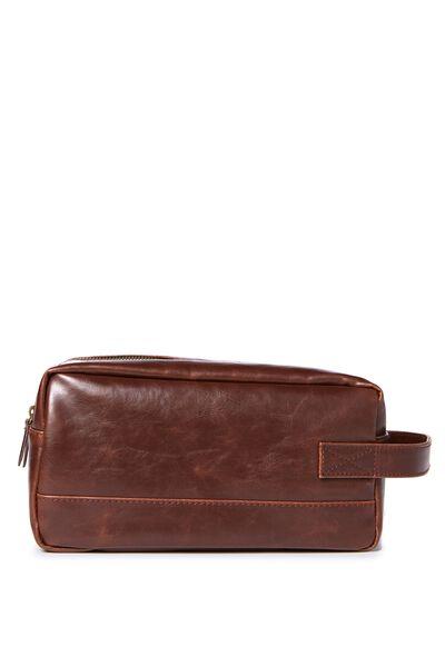 Buffalo Wash Bag, RICH TAN