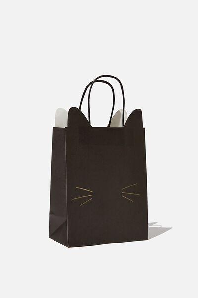 Novelty Stuff It Bag Small, BLACK CAT FACE